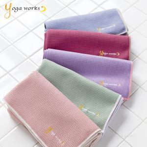 ホットヨガラグ ヨガマット 折りたたみ ヨガワークス ワッフルヨガラグ ホットヨガタオル yogaworks|yoga-pi