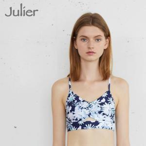 ジュリエ Julier ヨガウェア ブラトップ トップス カップ付き ブラトップ shine-flower-printブラトップ 水陸両用|yoga-pi