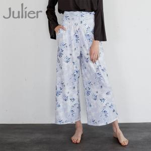 ジュリエ Julier ヨガウェア ヨガパンツ shine flower printギャザーパンツ|yoga-pi