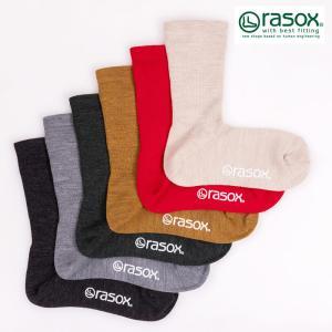 ラソックス rasox 靴下 ソックス メンズ レディース メリノウール・クルー