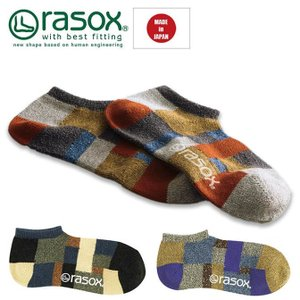 ラソックス rasox 靴下 ソックス メンズ レディース パッチワーク・スニーカー|yoga-pi