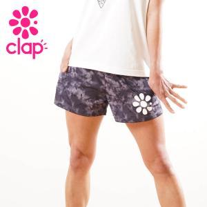 CLAP クラップ フィットネス ウェア レディース ショートパンツ タイダイ|yoga-pi