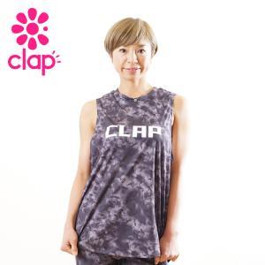クラップ フィットネス ウェア CLAP トップス タイダイ トレーニングタンク|yoga-pi