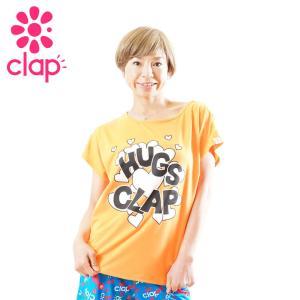 クラップ フィットネス ウェア CLAP Tシャツ ドルマン HUGS-CLAP yoga-pi