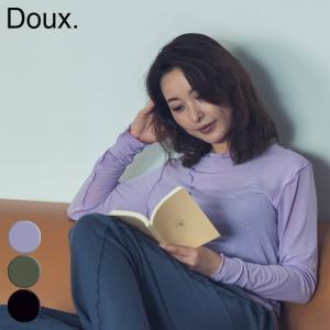 doux ワンマイルウェア ウーリートップス ルームウェア パジャマ ホームウェア ヨガ ピラティス トップス Tシャツ 抗菌 消臭|yoga-pi
