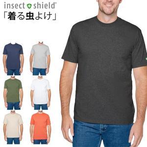 インセクトシールド メンズ Tシャツ 半袖 速乾 ドライ UV 虫よけ 虫除 服 大人 insect shield yoga-pi