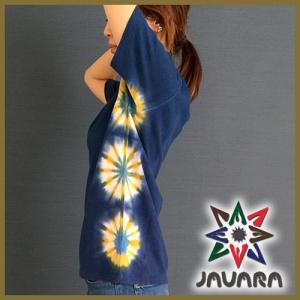 ヘンプ Tシャツ JAVARA フラワー タイダイ染め javara Tシャツ ヘンプ メンズ レディース エスニック タイダイ染め|yoga-pi