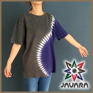 ヘンプ Tシャツ JAVARA S柄 タイダイ染め javara Tシャツ ヘンプ メンズ レディース エスニック タイダイ染め|yoga-pi
