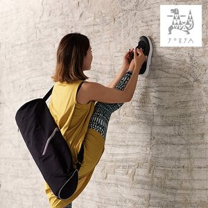 ヨガマットバッグ ヨガマット ケース バイカラーヨガマットバッグ ブラック/グレー YOGYA ヨガ ピラティス ヨガマット バッグ おしゃれ 大容量|yoga-pi