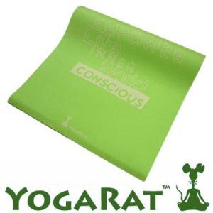 YOGARAT ヨガラット Conscious Mat ライム 送料無料<br>ヨガ,ピラティス,マット,ヨガマット,6ミリ,柄<br><br>|yoga-pi