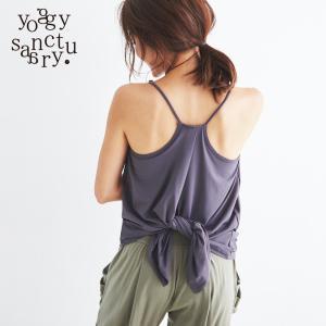 ヨギーサンクチュアリ  ヨガウェア バックスリットスポーティキャミ yoggy sanctuary yoga-pi