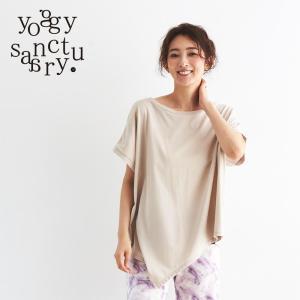 ヨギーサンクチュアリ  ヨガウェア Tシャツ ウアシメトリーオーガニックTシャツ yoggy sanctuary yoga-pi