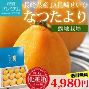 びわ なつたより 長崎びわ 約1kg 12〜15粒 化粧箱 露地栽培 長崎県産