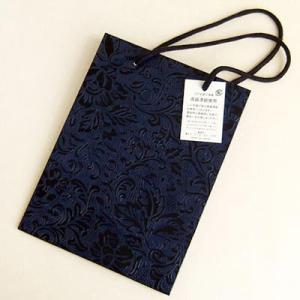 うるし塗り手提げ紙バッグ「黒バラ」 小サイズ yohira
