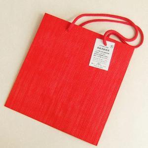 うるし塗り手提げ紙バッグ「小波朱色」 中サイズ yohira