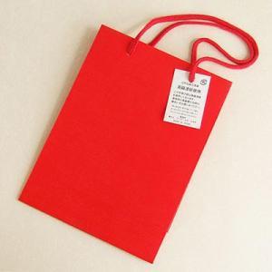 うるし塗り手提げ紙バッグ「小波朱色」 小サイズ yohira