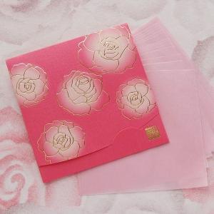ぼかし染め香りローズ 方形サイズ   「絹すきローズ」|yohira