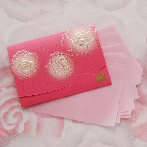 ぼかし染め香りローズ 短冊サイズ「絹すきローズ」|yohira