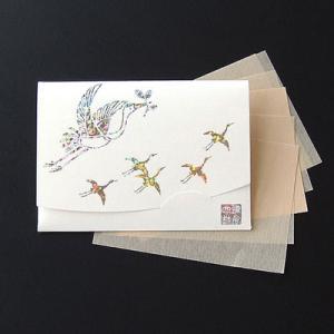 祝い鶴 「生成り」短冊サイズ