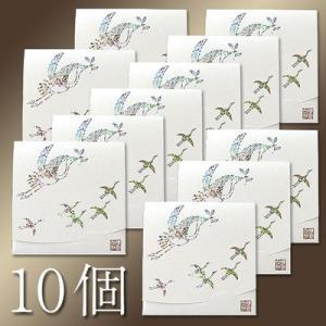 祝い鶴「生成り」方形めでたい10個セット