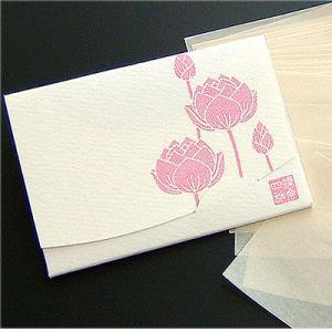 蓮【オフホワイト】 「絹すき」  短冊サイズ yohira