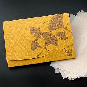 銀杏・いちょう 「絹すき」   短冊サイズ|yohira