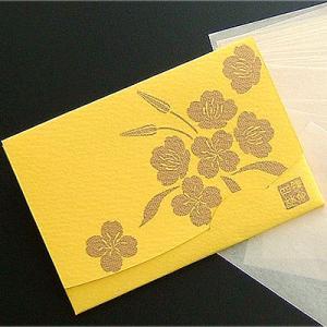 月見草【黄色】 「絹すき」 短冊サイズ yohira