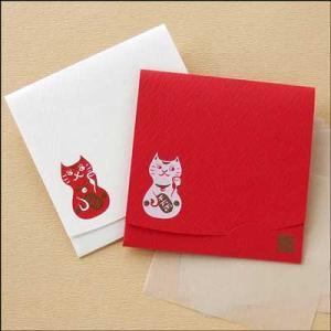 「絹すき」 招き猫/方形サイズ