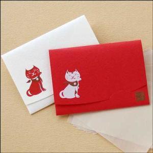 「絹すき」招き猫/短冊サイズ