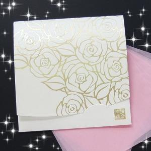 ホワイト香りローズ・ゴールド/方形サイズ|yohira