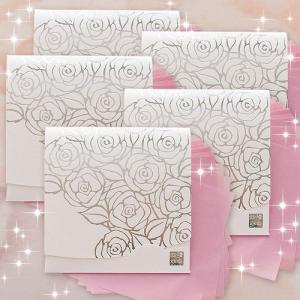 ホワイト香りローズ・シルバー【おまとめ5冊】方形サイズ|yohira