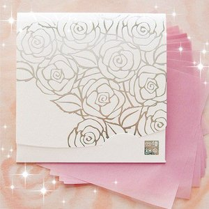 ホワイト香りローズ・シルバー/方形|yohira