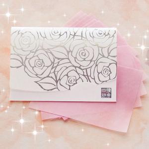 ホワイト香りローズ・シルバー/短冊サイズ|yohira