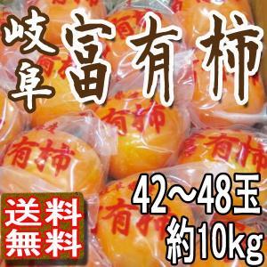 柿 本貯蔵富有柿 送料無料 岐阜県産 42〜48玉10kg ...