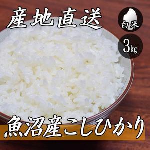 新米 お米 3kg 魚沼産 コシヒカリ 3kg×1袋 令和2年産 米 白米|yoita-kawasyou