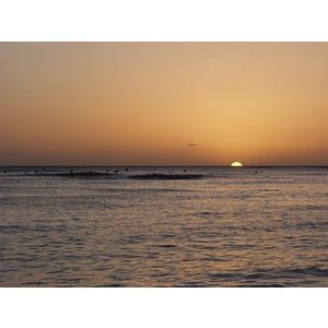 Hawaii ハワイ ワイキキ 夕日 (No.2) 2240pix×1680pix|yojigon