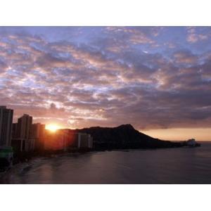 Hawaii ハワイ ワイキキ 日の出 (No.1) 1600pix×1200pix|yojigon