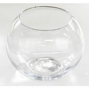 手作りガラス 丸型金魚鉢ビューレット クリア(M)|yojigon