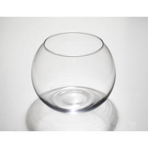 手作りガラス 丸型金魚鉢ビューレット クリア(L)|yojigon