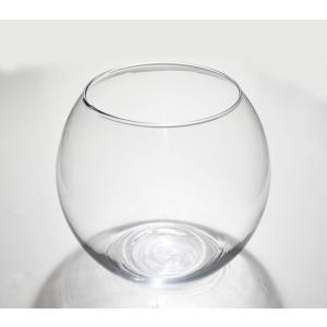手作りガラス 丸型金魚鉢ビューレットスリム クリア(LL)|yojigon