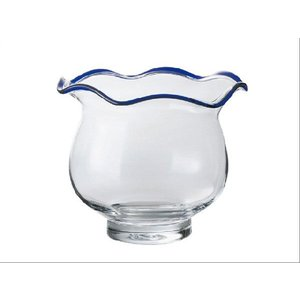手作りガラス 金魚鉢 青(M)|yojigon
