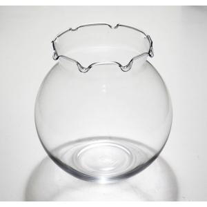 手作りガラス 金魚鉢 ウェーブM|yojigon