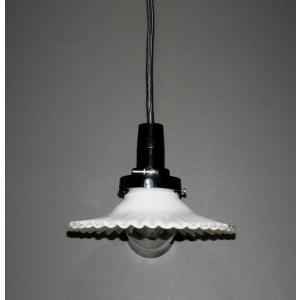 ミルクグラス ランプシェード:電気笠 HS1643N「ソケットとコード(100cm)」もセットで|yojigon