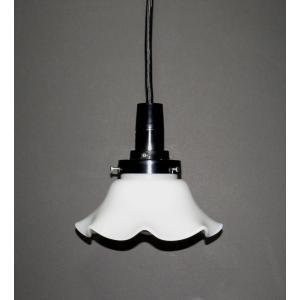 ミルクグラス ランプシェード:電気笠 HS201N「ソケットとコード(100cm)」もセットで|yojigon