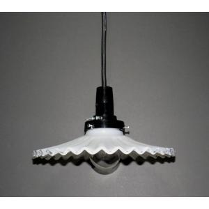 ミルクグラス ランプシェード:電気笠 HS205n「ソケットとコード(100cm)」もセットで|yojigon