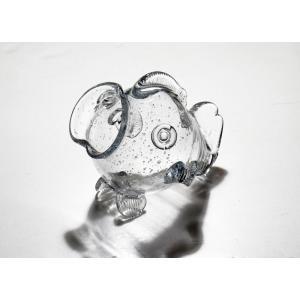 手作りガラス 硝子【金魚鉢】おさかな金魚鉢気泡入り|yojigon