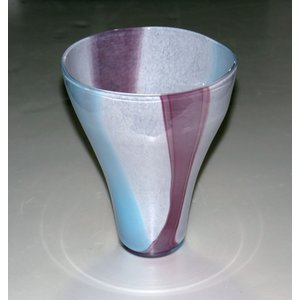 手作りガラス 色彩円型花びん|yojigon
