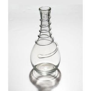 手作り村上硝子 線巻き花瓶 透明|yojigon