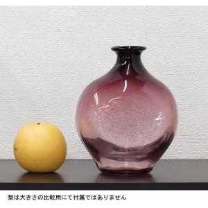 手作り村上硝子 花瓶 アメ色|yojigon