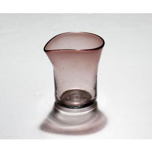 手作り村上硝子 小さい花瓶 アメ色|yojigon
